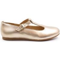 Chaussures Fille Ballerines / babies Boni & Sidonie Ballerine en cuir à bride - MELODIE II Or