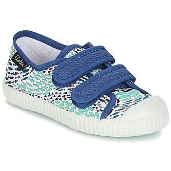Schuhe Jungen Sneaker Low Aster MICKY Weiss / Blau