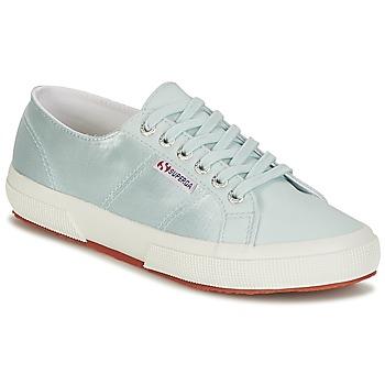 Schuhe Damen Sneaker Low Superga 2750 SATIN W Blau / Silbrig