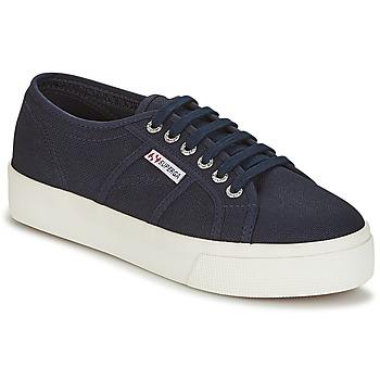 Schuhe Damen Sneaker Low Superga 2730 COTU Marineblau / Weiß