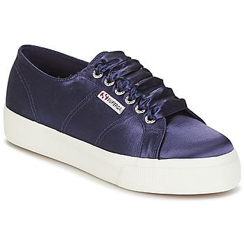 Schuhe Damen Sneaker Low Superga 2730 SATIN W Marineblau