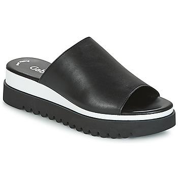Schuhe Damen Pantoffel Gabor SORIEUX Schwarz / Weiss