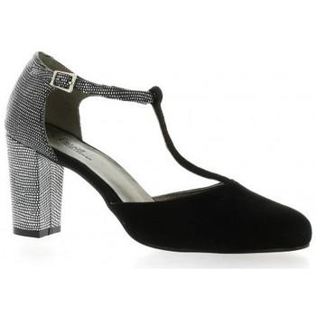 Chaussures Femme Escarpins Reqin's Escarpins cuir velours Noir