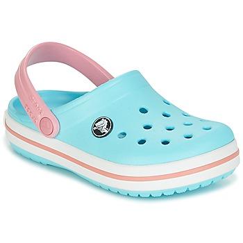 Schuhe Mädchen Pantoletten / Clogs Crocs Crocband Clog Kids Blau / Rose