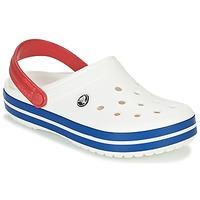 Schuhe Pantoletten / Clogs Crocs CROCBAND Weiss / Blau / Rot