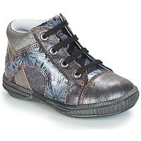 Chaussures Fille Baskets montantes GBB ROSETTA Argenté / Bleu