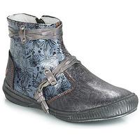 Chaussures Fille Boots GBB REVA Gris / Bleu