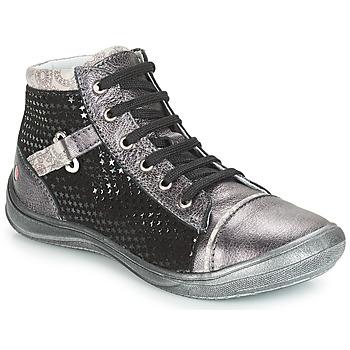 Chaussures Fille Baskets montantes GBB ROMIE Gris / Noir