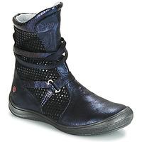 Chaussures Fille Bottes ville GBB ROSANA Bleu / Noir