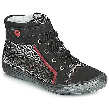 Scarpe Bambina Sneakers alte Catimini ROSIERE Nero / Argento