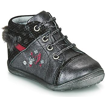 Chaussures Fille Boots Catimini ROULETTE Gris / Argenté