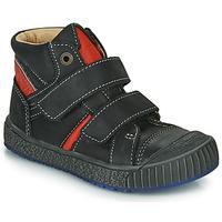 Chaussures Garçon Baskets montantes Catimini RAIFORT Noir / Rouge