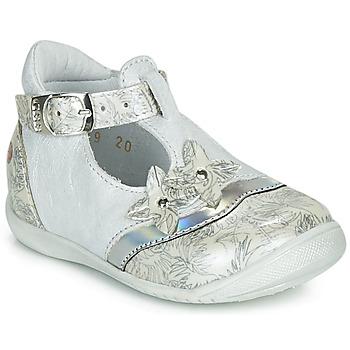 Chaussures Fille Ballerines / babies GBB SELVINA Blanc / Argenté