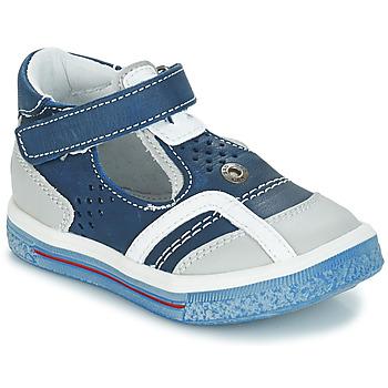 Chaussures Fille Ballerines / babies GBB SALVADORE Bleu / Gris