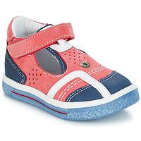 Chaussures Fille Ballerines / babies GBB SALVADORE Rouge / Bleu