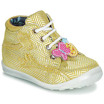 Chaussures Fille Baskets montantes Catimini SALAMANDRE Jaune