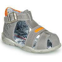 Chaussures Garçon Sandales et Nu-pieds Catimini SPHINX Gris / Orange