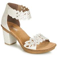 Schuhe Damen Sandalen / Sandaletten Rieker BELALIER Weiß