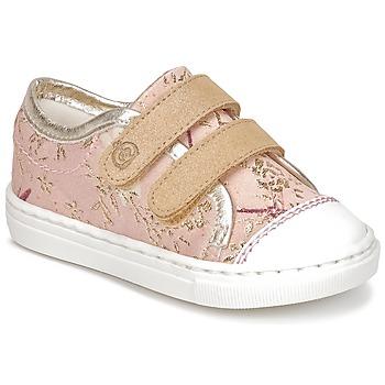 Scarpe Bambina Sneakers basse Citrouille et Compagnie JORDANIA Rosa / Oro