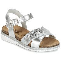 Schuhe Mädchen Sandalen / Sandaletten Citrouille et Compagnie GAUFRETTE Silber