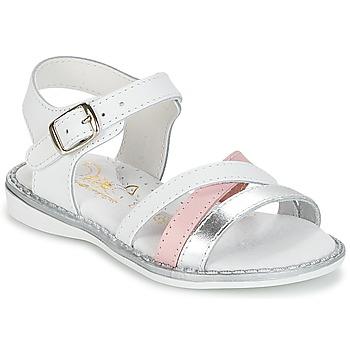 Schuhe Mädchen Sandalen / Sandaletten Citrouille et Compagnie IZOEGL Weiß / Silber
