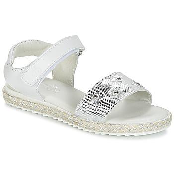 Schuhe Mädchen Sandalen / Sandaletten Citrouille et Compagnie ILEVANDOK Weiß / Silber