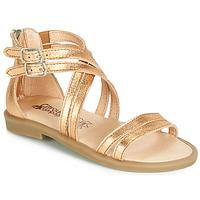 Schuhe Mädchen Sandalen / Sandaletten Citrouille et Compagnie IMOURAT Golden