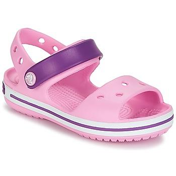 Schuhe Mädchen Sandalen / Sandaletten Crocs CROCBAND SANDAL Pink / Purpur