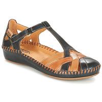 Chaussures Femme Ballerines / babies Pikolinos P. VALLARTA 655 Marine / Camel
