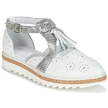 Schuhe Damen Derby-Schuhe Regard RASTANU Weiss / Silbern