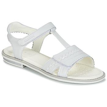 Schuhe Mädchen Sandalen / Sandaletten Geox J S.GIGLIO A Weiß