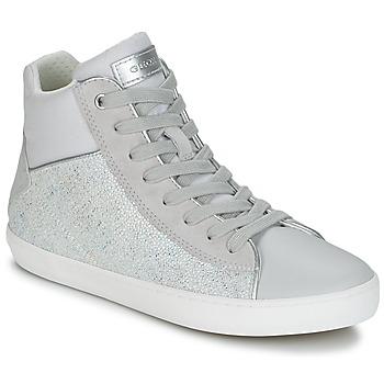 Chaussures Fille Baskets montantes Geox J KILWI G. H Gris / Argenté