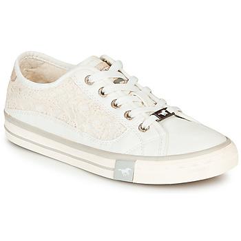 Schuhe Damen Sneaker Low Mustang ROULIA Weiß