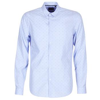 Abbigliamento Uomo Camicie maniche lunghe Sisley KELAPSET Blu / Clair