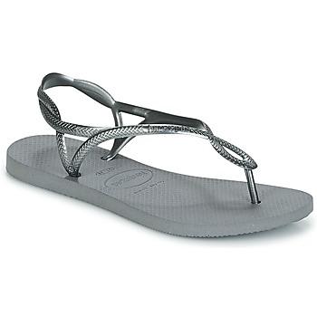 Schuhe Damen Zehensandalen Havaianas LUNA Silbern