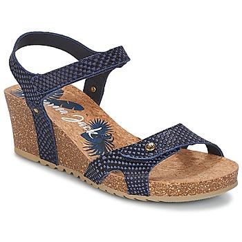 Schuhe Damen Sandalen / Sandaletten Panama Jack JULIA Marineblau