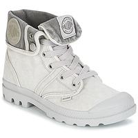 Schuhe Damen Boots Palladium US BAGGY Grau / Mettalfarben