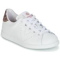 Chaussures Fille Baskets basses Victoria DEPORTIVO BASKET PIEL KID Blanc