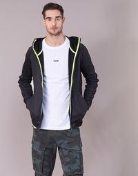 Kleidung Herren Sweatshirts G-Star Raw STRETT SLIM HOODED ZIP THRU SW L/S Schwarz