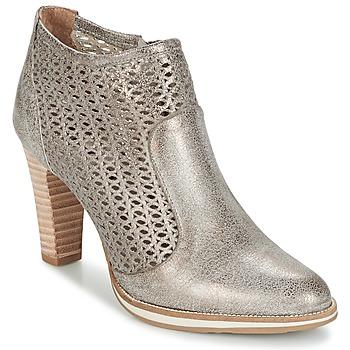 Schuhe Damen Low Boots Myma LINOPOS Silbern