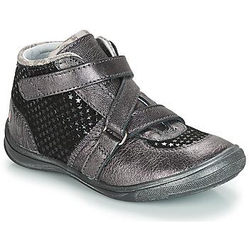 Chaussures Fille Boots GBB RIQUETTE Gris / Noir