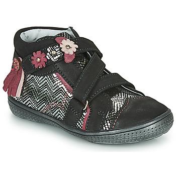 Chaussures Fille Boots Catimini ROQUETTE Noir / Argenté