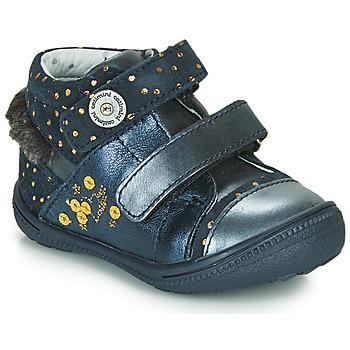 Chaussures Fille Boots Catimini ROSSIGNOL Marine / Doré