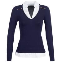 Abbigliamento Donna Maglioni Morgan MYLORD Marine / Bianco
