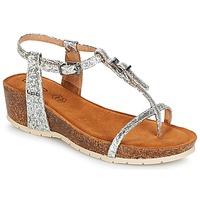 Schuhe Damen Sandalen / Sandaletten Les Petites Bombes KISS Silbern