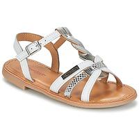 Schuhe Mädchen Sandalen / Sandaletten Les Tropéziennes par M Belarbi BADAMI Weiß / Silbrig