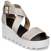 Schuhe Damen Sandalen / Sandaletten Sweet Lemon SUBWAY Silbrig