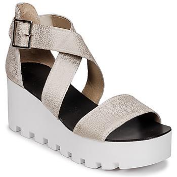 Schuhe Damen Sandalen / Sandaletten Sweet Lemon SUBWAY Silbern
