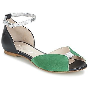 Chaussures Femme Sandales et Nu-pieds Betty London INALI Noir / Argent / Vert