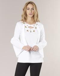 Abbigliamento Donna Top / Blusa MICHAEL Michael Kors POPLIN GRMT LCE UP T. Bianco